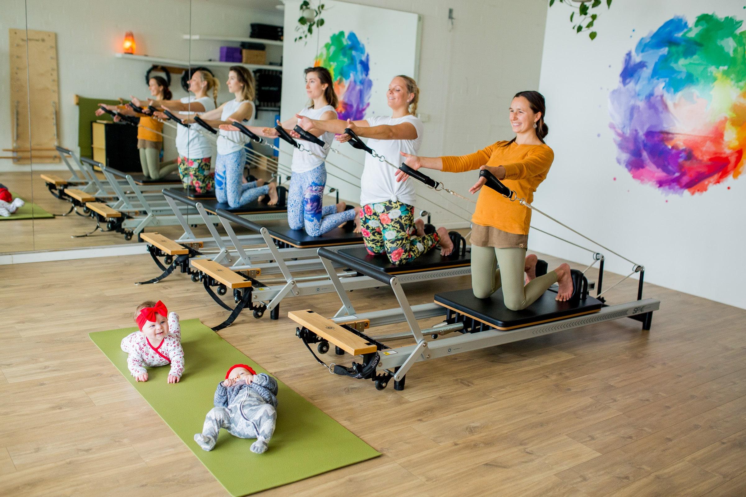 Reformer Pilates for new mums at Village Birth